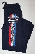 NEW Mens Ford Mustang Navy Blue Pajama Lounge Pants Size SM, M