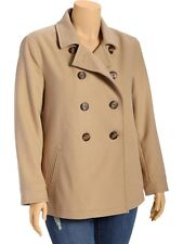 OLD NAVY Womens Plus Wool Blend Peacoat Pea Coat Jacket Size 1X,3X NEW NWT
