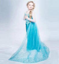 Hot NEW! FROZEN ELSA ANNA PRINCESS DRESS KIDS COSTUME PARTY FANCY SNOW QUEEN