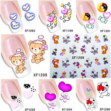 FREE Shipping LOVE Heart Nail Art Stickers Water Transfer Nail Decals #1199-1205