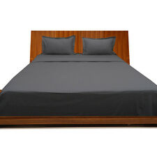 USA Complete Bedding Set -) 1000TC Dark Grey (Solid&Striped) 100%EGYPTIAN COTTON