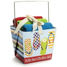 CUTE GIFT SETS! Dishcloths in Chinese Takeout Style Boxes CUTE GIFT BASKETS! NEW