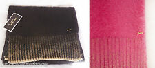 Juicy Couture Soft Warm Angora Blend Scarf Pink and Black NWT $148