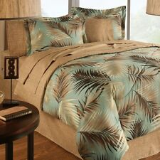 NEW BED A IN BAG Jungle Green Sand Beach Floral TROPICAL Palm Tree COMFORTER SET