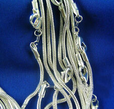 Wholesale lots 5pcs 925 Sterling Silver Snake Chain Necklace 16-30 inch Fashion