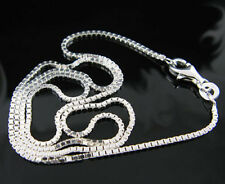 "New! Wholesale Lots 5pcs 925 Sterling Silver 1.4mm Box Chain Necklace 16""-30"""