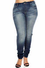 Womens Ladies Plus wash skinny/slim fit JEANS sexy casual bae dope basic