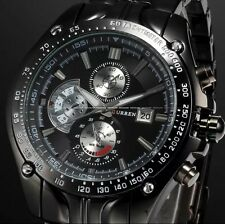 Mens Watches Quartz Stainless Steel Analog Date Sports New Wrist Watch