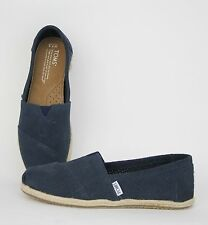 Toms Women Classic Navy Perforated Suede Slip-On 10001419