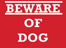 BEWARE OF THE DOG METAL SIGN PLAQUE