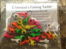 "25 Pack of Painted 1/8oz Round Head Floating Jigs  ""Fast Free Shipping"""