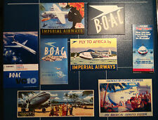 AIRLINES RETRO FRIDGE MAGNETIC SIGNS + FREE MATCHING STICKER 50 + DESIGNS