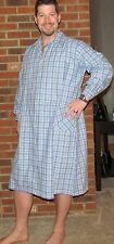 Robe Men's Cotton Blue Plaid Made in USA