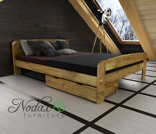 """*NODAX* Wooden Furniture Pine King Size Bed 5ft/Select Underbed Storage - """"F2"""""""