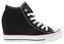 Converse Chuck Taylor All Star Lux Hidden Wedge Sneakers in Black NEW