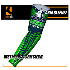 BEAST MODE 24 Compression Arm Sleeve football Seattle seahawks 12th man green