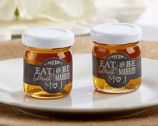 Personalized Chalkboard Eat Drink & Be Married Clover Honey Bridal Wedding Favor