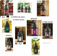 """stained glass punched metal Moroccan garden Lantern Candle holder wholesale 10"""""""