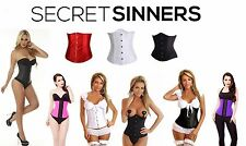 Black Women Latex Rubber Waist Corset Training  Body Shaper Shapewear Gym (352)