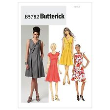 Butterick 5782 Bow Fitted Flared Princess Seams Lined Dress Sewing Pattern B5782