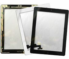 Digitizer Touch Screen Assembly for iPad with Home Button Camera Holder Adhesive