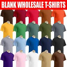 50/50 Dryblend Gildan T SHIRT BLANK WHOLESALE Bulk White Colors S-XL Discount