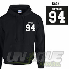 HARRY STYLES 94 HOODED TOP HOODIE HOOD SWEATER ONE DIRECTION BAND TOUR MUSIC FAN