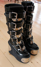 Original Transmuter boots, Demonia with buckles, spikes platform goth industrial