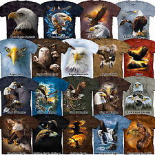 Bald Eagle T-Shirt S-3XL The Mountain Golden Eagle Patriotic 4th of July Tee NEW