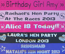 Personalised Hen Night Party / Baby Shower/ Birthday Sashes 18th/21st/30th