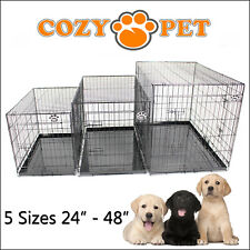 Dog Cage Cozy Pet Dog Crate Puppy Crate 5 Sizes Black Travel Folding Cat Crate