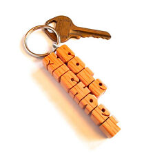 2-Liner Keychain - Oak Wood Names - Handmade to Order and Shipped in 3 Days