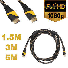 1.5M 3M 5M Full HD 1080P HDMI Cable for Bluray 3D HDTV DVD PC PS3 LCD