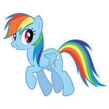 My Little Pony Rainbow Dash Vinyl Wall Self Adhesive Sticker Decal Multi Size