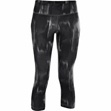UNDER ARMOUR UA PERFECT TIGHT FITTED CAPRIS  WORKOUT PANTS BLACK#1246809-001-NWT