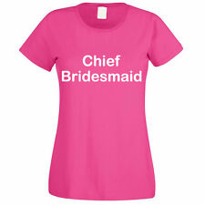 CHIEF BRIDESMAID - Wedding / Married / Marriage / Novelty Themed Womens T-Shirt