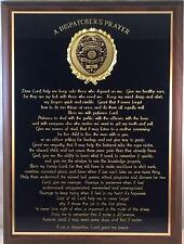 POLICE DISPATCHER PRAYER PLAQUE - Can be Personalized - Great Gift or Award