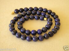 Blue Lapis Lazuli 8mm Necklace Round Beads Various Lengths 8 mm Lapis Beads