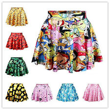 New 2014 summer women pleated skirts Adventure time Stawberry Princess SKIRT