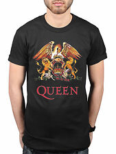 Official Queen Classic Crest T-Shirt Rock Band Freddie Mercury Brian May