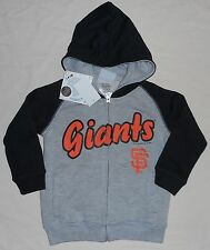 SAN FRANCISCO GIANTS HOODED SWEATSHIRT ZIPPERED HOODIE TODDLER 2T 3T 4T GRAY