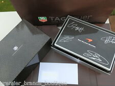 NEW TAG HEUER F1 MERCEDES MCLAREN COLLECTORS RARE 3 SWISS WATCH CHRONOGRAPH SET