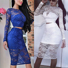 Fashion Women Bandage Bodycon Lace Evening Sexy Party Cocktail MINI Summer Dress
