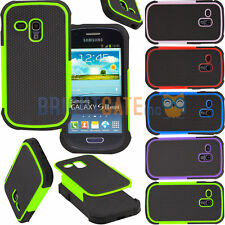 Hybrid Shockproof Durable Rubber Cover Case For Samsung Galaxy S3 mini i8190