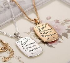 Distinctive The Love Between a Mother and a Daughter is Forever Pendant Necklace