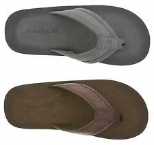 Men's BROWN or GRAY American Eagle Flip Flops Sizes 11 or 12 ~NEW IN PACKAGE