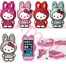 3D Cartoon Silicone SoftCute Kitty Rabbit Case Cover for iPhone/Samsung/Sony/HTC