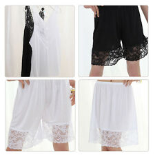 VISCOSE RAYON Lingerie Women's Lace Skirts Pants Top Black White Korean Style