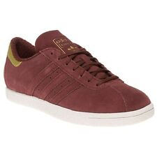 New Mens adidas Maroon Tobacco Suede Trainers Football Style Lace Up