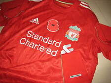 Liverpool ADIDAS 2011-12 Poppy Remembrance EPL Home Techfit Player-issue Shirt